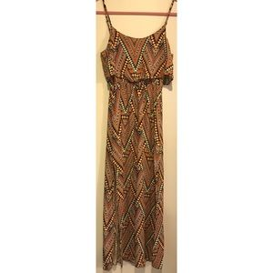 🆕 H&M Orange Tribal Print Maxi Dress